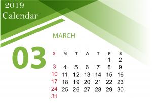 March 2019 Calendar Template PDF