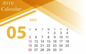 Free May 2019 Calendar Template