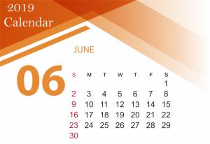Free June 2019 Calendar