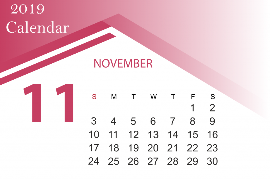 Free November 2019 Calendar