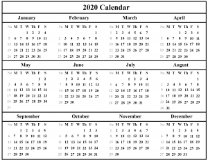 Download Free Australia 2020 Holiday Calendar Template