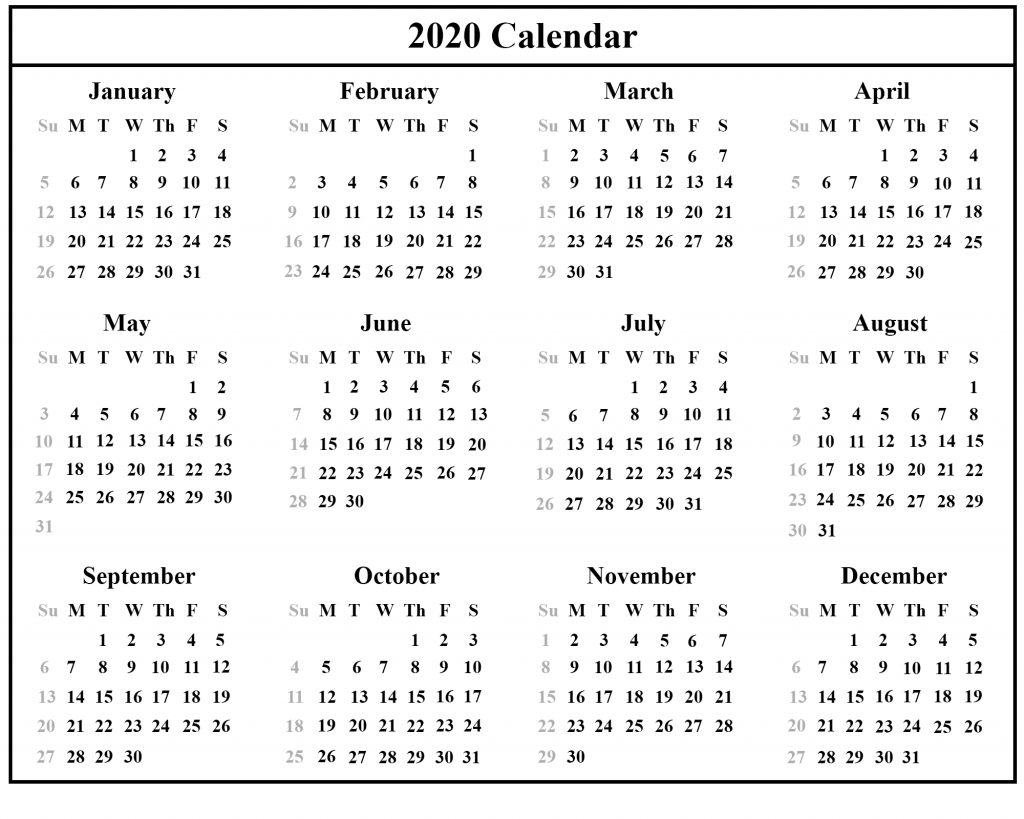 Free Australia 2020 Calendar With Holidays