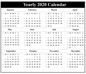 2020 Australia Holiday Calendar Printable PDF