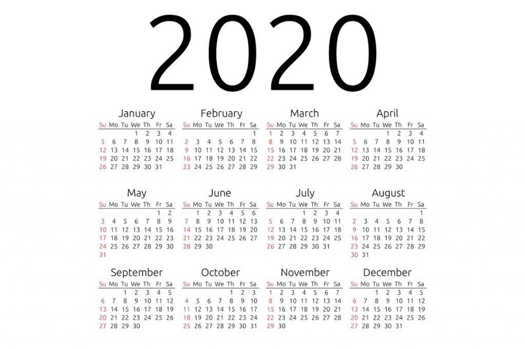 photo regarding Free Printable 2020 Calendar referred to as Totally free Blank Printable Calendar 2020 Template inside PDF, Excel