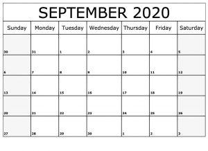 Printable blank September 2020