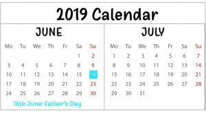 Free June July Calendar