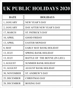 Significance of the Public Holidays in United Kingdom