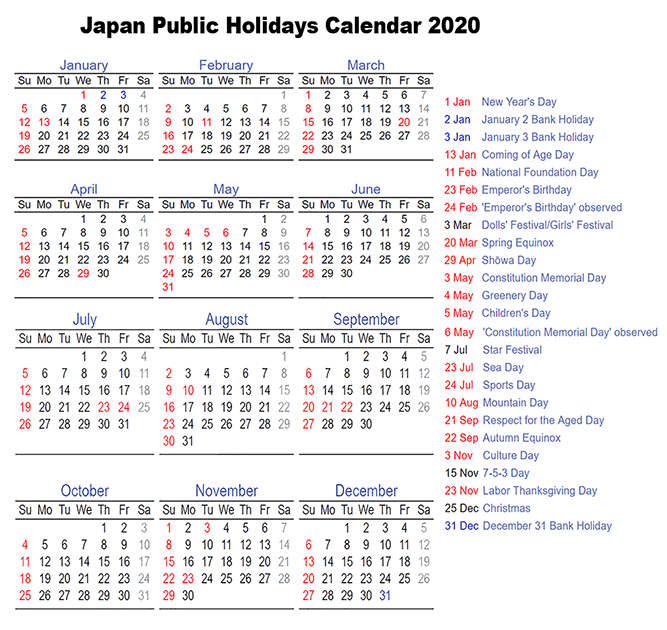 Public Holiday in Japan