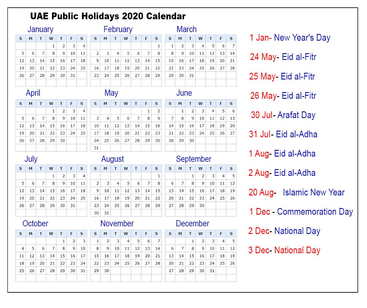 Public holidays uae
