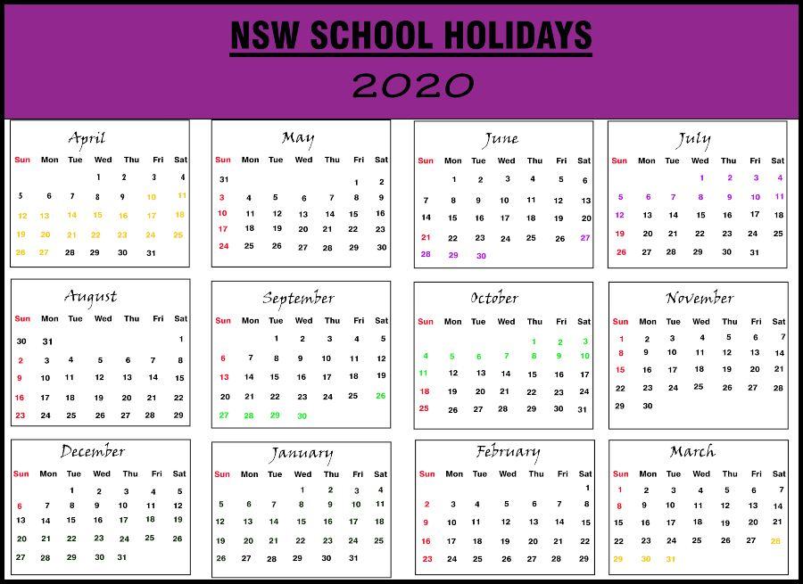 New South Wales School Calendar