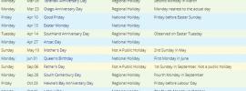 NZ 2020 Holiday Calendar