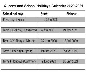 Queensland School Holidays