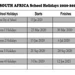 South Africa School Holidays