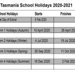 Tasmania School Holidays