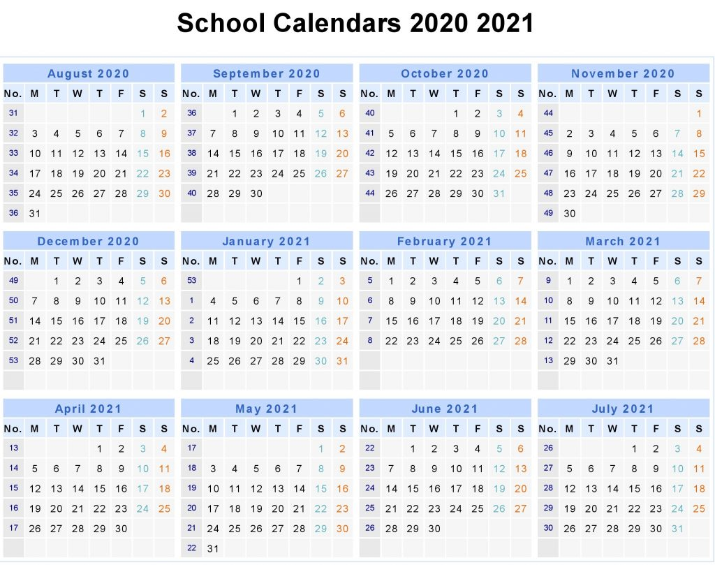 UK 2020 School Holidays, UK 2020 School Calendar