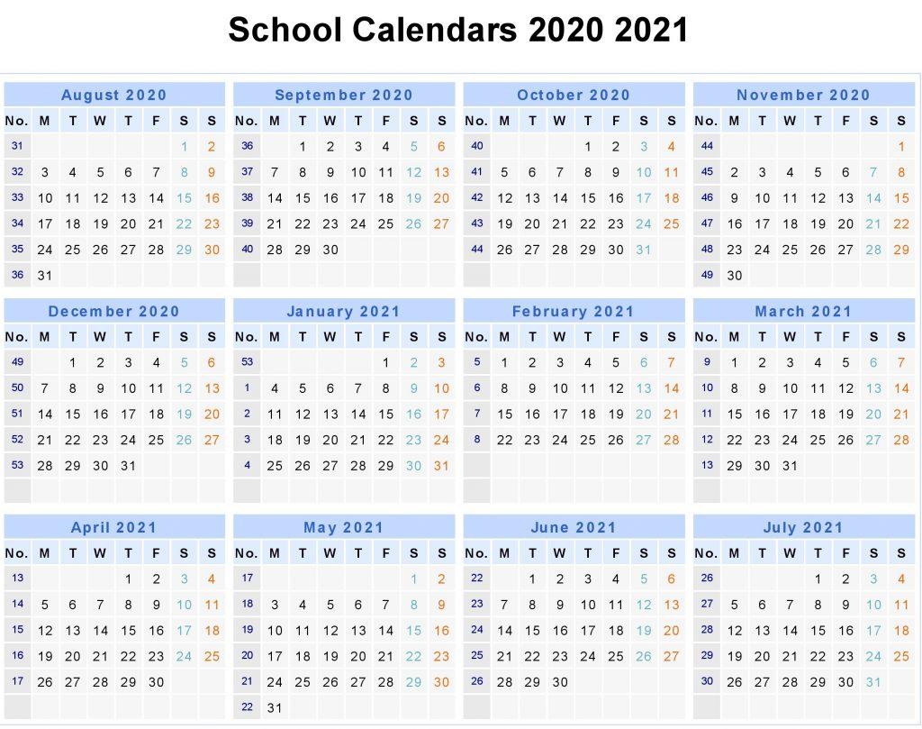 UK 2020 School Holidays Calendar Template (United Kingdom)
