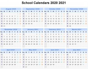 UK 2020 School Holidays