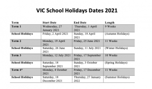 victorian school holidays