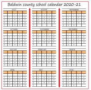Baldwin Academic School Calendar