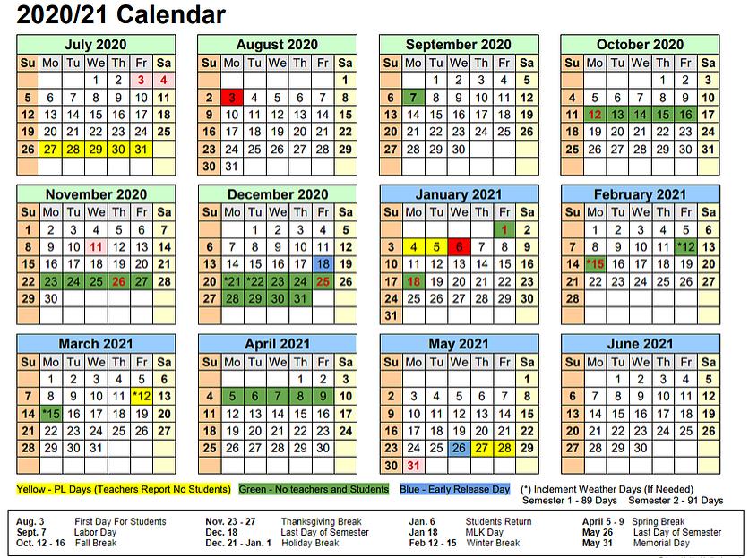 Baldwin County School Calendar